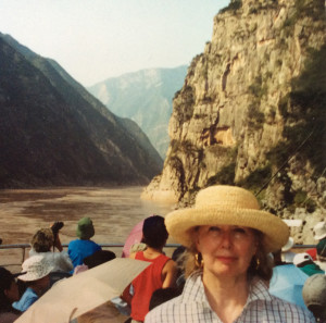 Joan Scally Larrabee sailing west up the Yangtze River to Chungking